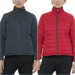 Arctix Gray Red Reversible Quilted Jacket